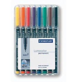STAEDTLER OH-Stift, Lumocolor® 318, F, perm., 0,6 mm, Schreibf.: 8er so