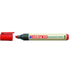 edding Permanentmarker 22, nachf., Ksp., 1-5mm, Schreibf.: ro