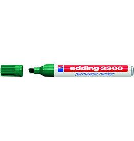 edding Permanentmarker 3300, Keilspitze, 1-5mm, Schreibf.: grün