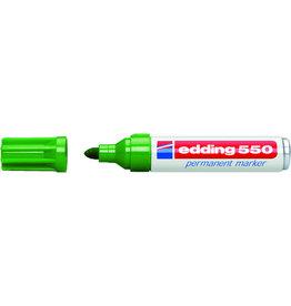 edding Permanentmarker 550, nachf., Rsp., 3-4mm, Schreibf.: grün