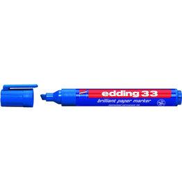 edding Pigmentmarker 33, nachfüllbar, Keilspitze, 1-5mm, Schreibf.: blau