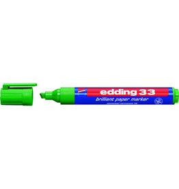 edding Pigmentmarker 33, nachfüllbar, Keilspitze, 1-5mm, Schreibf.: grün