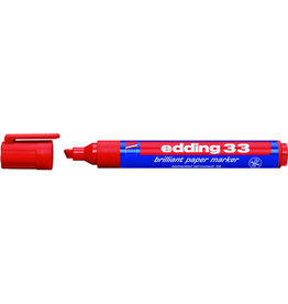 edding Pigmentmarker 33, nachfüllbar, Keilspitze, 1-5mm, Schreibf.: rot
