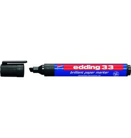edding Pigmentmarker 33, nachfüllbar, Keilspitze, 1-5mm, Schreibf.: schwarz
