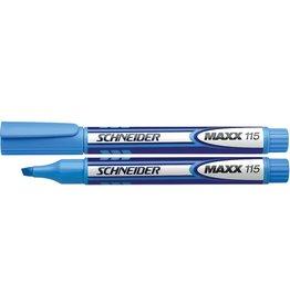 Schneider Textmarker MAXX 115, nachf., Ksp., 1-4mm, Schreibf.: blau