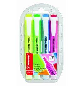 STABILO Textmarker swing® cool, Keilspitze, 1-4mm, Schreibf.: 4er sortiert