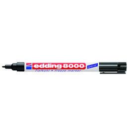 edding Tiefkühlmarker 8000, Rundspitze, 1mm, Schreibf.: schwarz