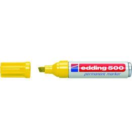 edding Permanentmarker 500, Keilspitze, 2 - 7 mm, Schreibf.: gelb