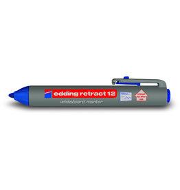 edding Boardmarker retract 12, Rundspitze, 1,5 - 3 mm, Schreibf.: blau