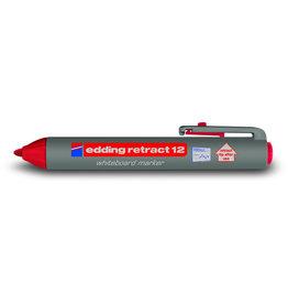 edding Boardmarker retract 12, Rundspitze, 1,5 - 3 mm, Schreibf.: rot