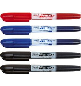 STAPLES Boardmarker, Remarx™, 1 - 3 mm, Schreibf.: sortiert