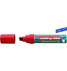 edding Flipchartmarker 388, Einw., Ksp., 4-12mm, Schreibf.: ro