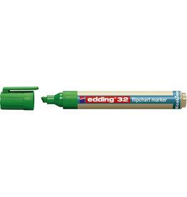 edding Flipchartmarker, EcoLine 32, Ksp., 1 - 5 mm, Schreibf.: grün