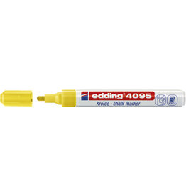 edding Kreidemarker, 4095, Rundspitze, 2 - 3 mm, Schreibf.: neongelb