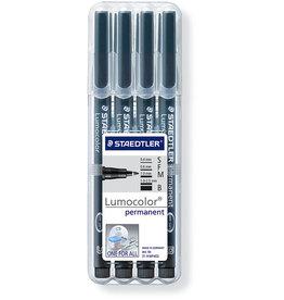 STAEDTLER OH-Stift, Lumocolor®, S / F / M / B, perm., Schreibf.: schwarz