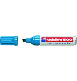 edding Permanentmarker 500, Keilspitze, 2 - 7 mm, Schreibf.: hellblau