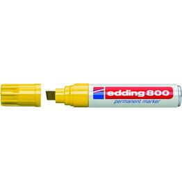 edding Permanentmarker 800, Keilspitze, 4 - 12 mm, Schreibf.: gelb