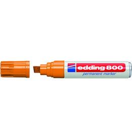 edding Permanentmarker 800, Keilspitze, 4 - 12 mm, Schreibf.: orange