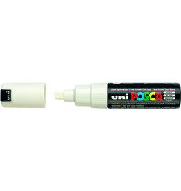 uni Permanentmarker, PC-8K, POSCA, Ksp., 8mm, Schreibf.: weiß