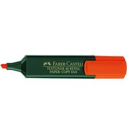 FABER-CASTELL Textmarker 48 REF., Ksp., 1-5mm, Schaft: dkl.gn, Schreibf.: orange