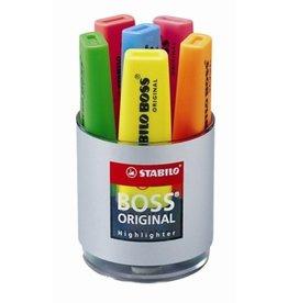 STABILO Textmarker BOSS® ORIGINAL, Rundbox, Ksp., 2-5mm, Schreibf.: 6er so