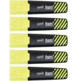 STAPLES Textmarker, hype, Einweg, Keilspitze, 1 - 5 mm, Schreibf.: gelb