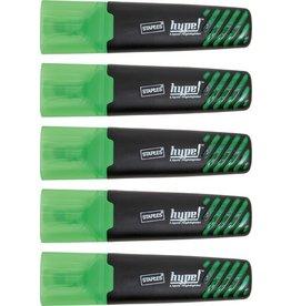 STAPLES Textmarker, hype, Einweg, Keilspitze, 1 - 5 mm, Schreibf.: grün