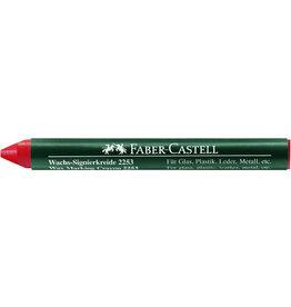 FABER-CASTELL Wachssignierkreide 2253, rund, Papierhülle, Ø: 10mm, Schreibf.: ro