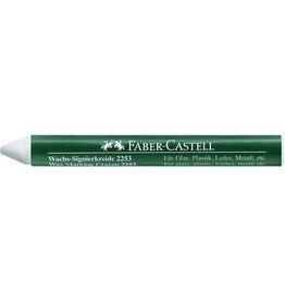 FABER-CASTELL Wachssignierkreide 2253, rund, Papierhülle, Ø: 10mm, Schreibf.: weiß