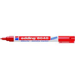 edding Wäschemarker 8040, Einweg, Rundspitze, 1 mm, Schreibf.: rot