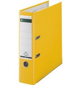 LEITZ Ordner Plastik, PP-kasch., Einsteckrückenschild, A4, 80mm, gelb