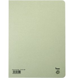 bene Aktendeckel, Karton (RC), 250 g/m², A4, 23,5 x 32 cm, grau
