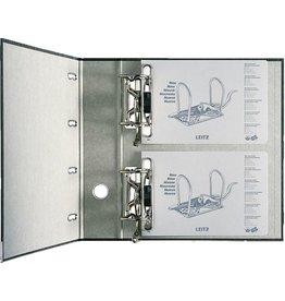 LEITZ Doppelordner, Wolkenmarmorpapier (RC), 2 x A5 quer, 75mm, schwarz