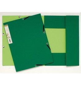 EXACOMPTA Einschlagmappe Forever®, Kart.(RC), Eckspanngummi, 3 Klappen, A4, grün
