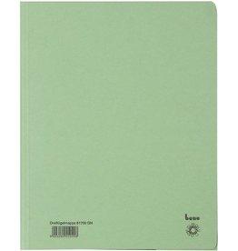 bene Einschlagmappe, Karton (RC), 3 Klappen, A4, für: 250 Blatt, grün
