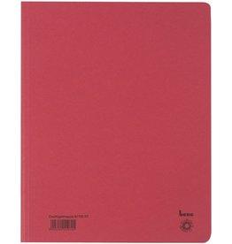 bene Einschlagmappe, Karton (RC), 3 Klappen, A4, für: 250 Blatt, rot