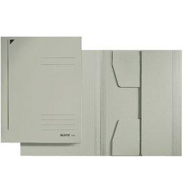 LEITZ Einschlagmappe, Karton (RC), 3 Klappen, A4, für: 250Bl., grau