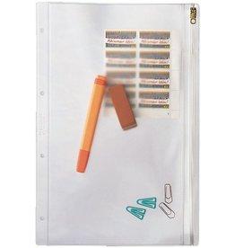 LEITZ Kleinkrambeutel, PVC-Weichfolie, Standardlochung, A4, 0,2mm, farblos