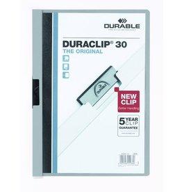 DURABLE Klemmmappe DURACLIP®, Hartfolie, A4, für: 30 Blatt, grau