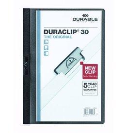 DURABLE Klemmmappe DURACLIP®, Hartfolie, A4, für: 30 Blatt, schwarz