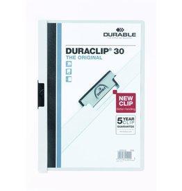 DURABLE Klemmmappe DURACLIP®, Hartfolie, A4, für: 30 Blatt, weiß