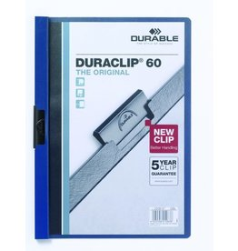 DURABLE Klemmmappe DURACLIP®, Hartfolie, A4, für: 60 Blatt, dunkelblau