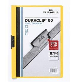 DURABLE Klemmmappe DURACLIP®, Hartfolie, A4, für: 60 Blatt, gelb