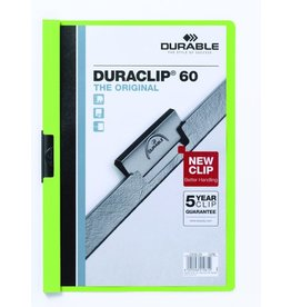 DURABLE Klemmmappe DURACLIP®, Hartfolie, A4, für: 60 Blatt, grün