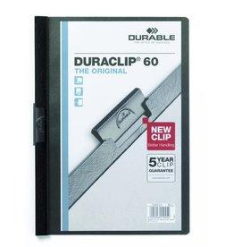 DURABLE Klemmmappe DURACLIP®, Hartfolie, A4, für: 60 Blatt, schwarz