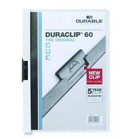 DURABLE Klemmmappe DURACLIP®, Hartfolie, A4, für: 60 Blatt, weiß