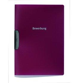 DURABLE Klemmmappe DURASWING® JOB, A4, für: 30Bl., dunkelrot, Clip: schwarz