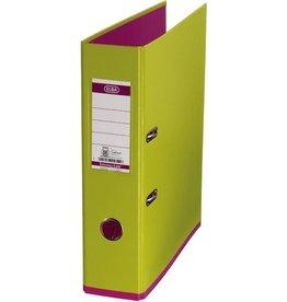 ELBA Ordner myColour, PP, mit Griffloch, A4, 80 mm, hellgrün/pink