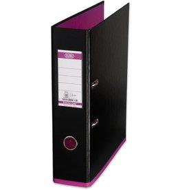 ELBA Ordner myColour, PP, mit Griffloch, A4, 80 mm, schwarz/pink