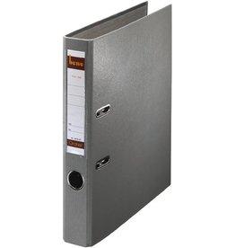 bene Ordner No.1, PP-kaschiert, Einsteckrückenschild, A4, 52 mm, grau